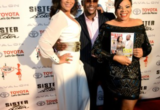 LisaRaye McCoy, Floyd Mayweather, JR and Jamie Brown Photo by Paras Griffin
