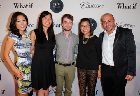 (L-R) Bo Kim, Tiffany Pham, Daniel Radcliffe, Melody Lane and Beri Meric attend IvyConnect's Inaugural Ivy Innovator Awards with Daniel Radcliffe - Photo credit: Joe Scarnic/Getty Images