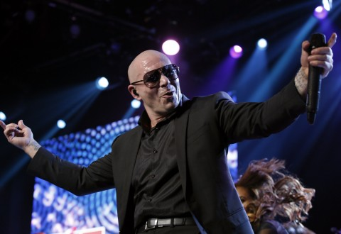 Pitbull Performs On The Honda Stage At The iHeartRadio Theater Los Angeles