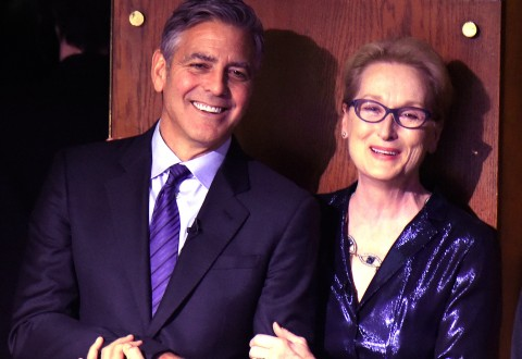 George Clooney and Meryl Streep attend  SeriousFun Children's Network 2015 New York Gala/Photo by Kevin Mazur for Getty Images