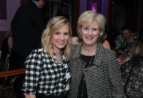Kristen Bell and Dr. Leslie Mancuso, President and CEO of Jhpiego (PRNewsFoto/Jhpiego)