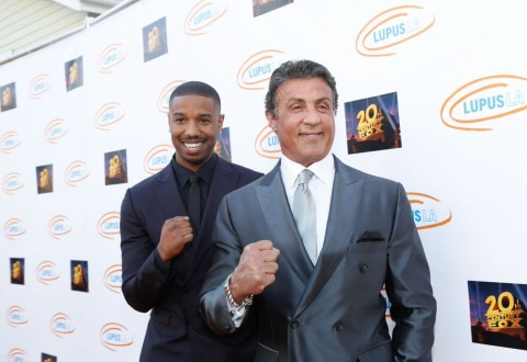 Actors Michael B. Jordan and Sylvester Stallone. Photo by Tiffany Rose