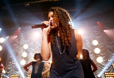 Jordin Sparks On The Honda Stage At The iHeartRadio Theater Los Angeles (Photo by Rich Polk/Getty Images for iHeartMedia)