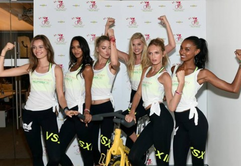 Victoria's Secret Angels Cycle for Pelotonia at Soul Cycle in West Village (New York City –July 8, 2015)