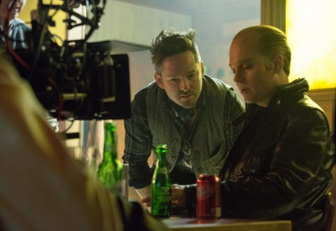 Actor Johnny Depp on the set of Black Mass