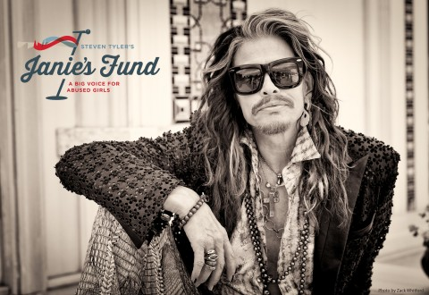 Musician Steven Tyler announces the launch of his new signature philanthropic initiative to help girls who have been abused and neglected: Janie's Fund. (PRNewsFoto/Youth Villages)