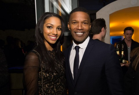Corrine Foxx and Jamie Foxx attend the HFPA and InStyle Celebration of Miss Golden Globe 2016, presented by Fiji Water. Photo credit: Image Group on Behalf of the HFPA