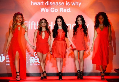 Models from the 2015 American Heart Association Go Red for Women Fashion Show