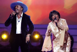 Singer Anthony Hamilton (L) and Pastor Shirley Caesar perform onstage during BET Celebration Of Gospel 2016 at Orpheum Theatre on January 9, 2016 in Los Angeles, California.  (Photo by Mark Davis/BET/Getty Images for BET)