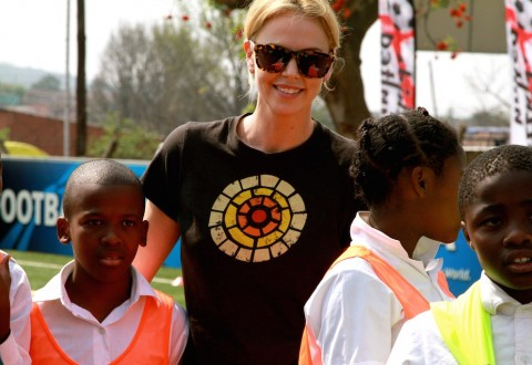 Actress Charlize Theron participates in WE Day CA - Photo Courtesy: CTAOP