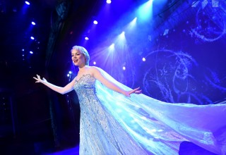 "The beloved animated hit ""Frozen"" is getting the Disney Cruise Line theatrical treatment as a full-length stage show exclusively aboard the Disney Wonder. In ""Frozen, A Musical Spectacular,"" the story will be presented like never before with an innovative combination of traditional theatrical techniques, modern technology and classic Disney whimsy. (Photo concept, David Roark) (PRNewsFoto/Disney Cruise Line)"