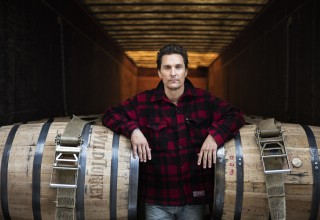 Matthew McConaughey - the new Creative Director for Wild Turkey - at the lauded bourbon distillery in Lawrenceburg, KY. Photo courtesy of Wild Turkey Bourbon. (PRNewsFoto/Wild Turkey)