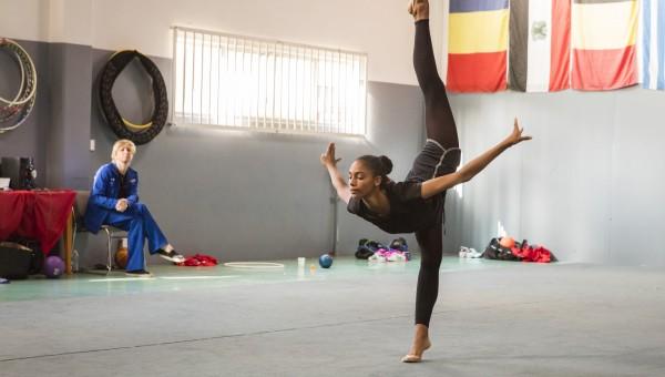 Rhythmic gymnast Nastasya Generalova/Photo by Richard Knapp