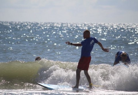 Wounded Warrior Project took warriors surfing in North Carolina recently. (PRNewsFoto/Wounded Warrior Project)