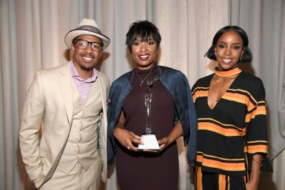 Nick Cannon, Jennifer Hudson and Kelly Rowland (Left to right) attend the 2016 March of Dimes Celebration of Babies: A Hollywood Luncheon in LA, which raised $1.4 million to help end preterm birth-- the number one cause of death of babies.