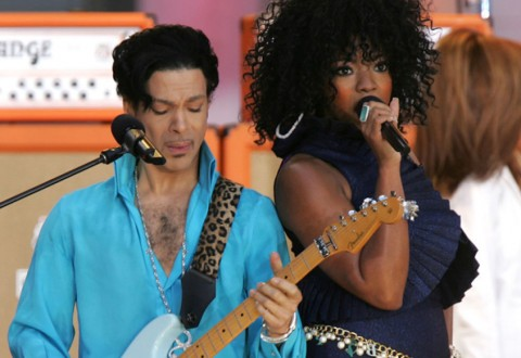 Tamar performs with Prince on Good Morning America