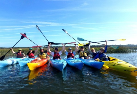 Wounded Warrior Project connected veterans and their families during a kayaking trip on Amelia Island. While paddling through one of North Florida's unspoiled sanctuaries, participants shared experiences in a picturesque and comforting environment. (PRNewsfoto/Wounded Warrior Project)