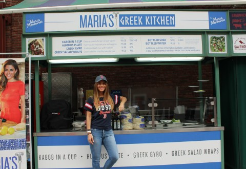 Aramark Maria Menounos Marias Greek Kitchen Yawkey Way