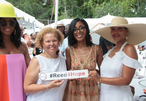 Left - Right: Tasha Smith, Debra Lee, Robi Reed and LisaRaye McCoy (Photo credit Louis Kengi Carr)