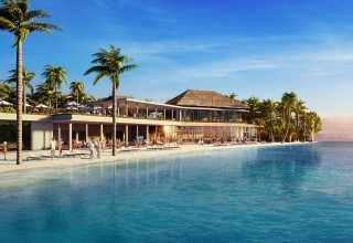 Hard Rock International to make waves in the Indian Ocean with Hard Rock Hotel Maldives. The first-of-its kind integrated resort destination is slated to debut in October 2018. (PRNewsfoto/Hard Rock International)