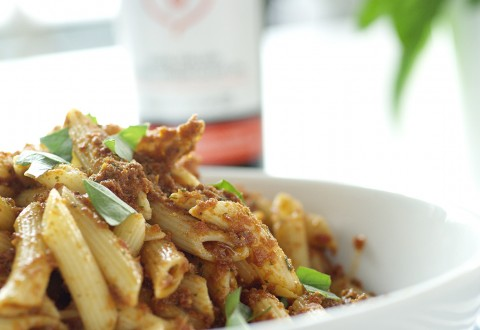 Bellucci Penne with Sun-dried tomato Pesto