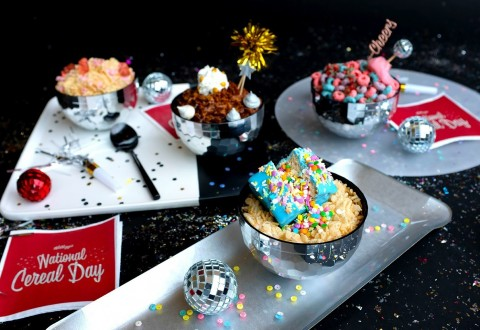 Kellogg's® celebrates National Cereal Day with fans around the world with several unique cereal-inspired recipes. (PRNewsfoto/Kellogg Company)