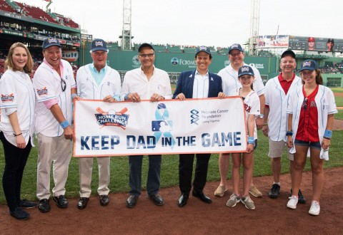 Mike Milken and Joe Torre joined by friends and family at Home Run Challenge Game Benefiting the Prostate Cancer Foundation (PRNewsfoto/Prostate Cancer Foundation)
